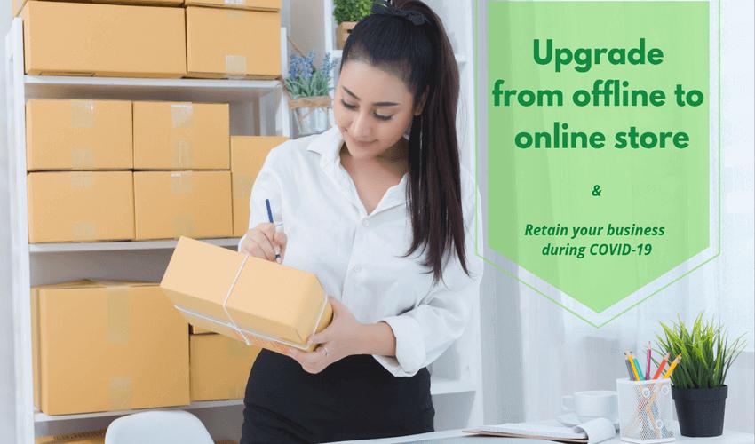 Retail offline to online store